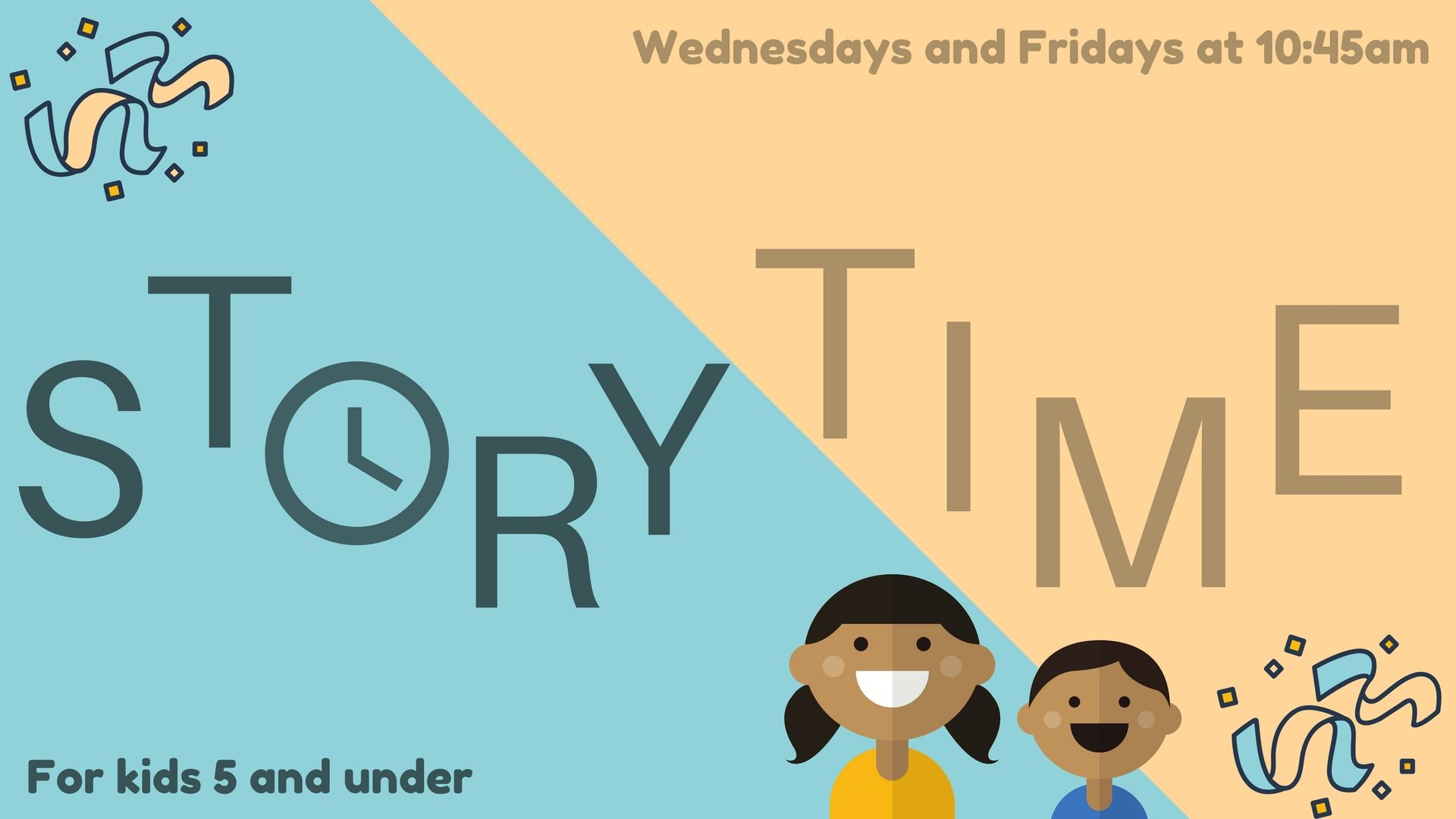 Come to Story Time – a fun early literacy program for kids 5 and under. Join Huntsville Public Library for interactive stories, songs, rhymes, and crafts. The early literacy practices featured each w