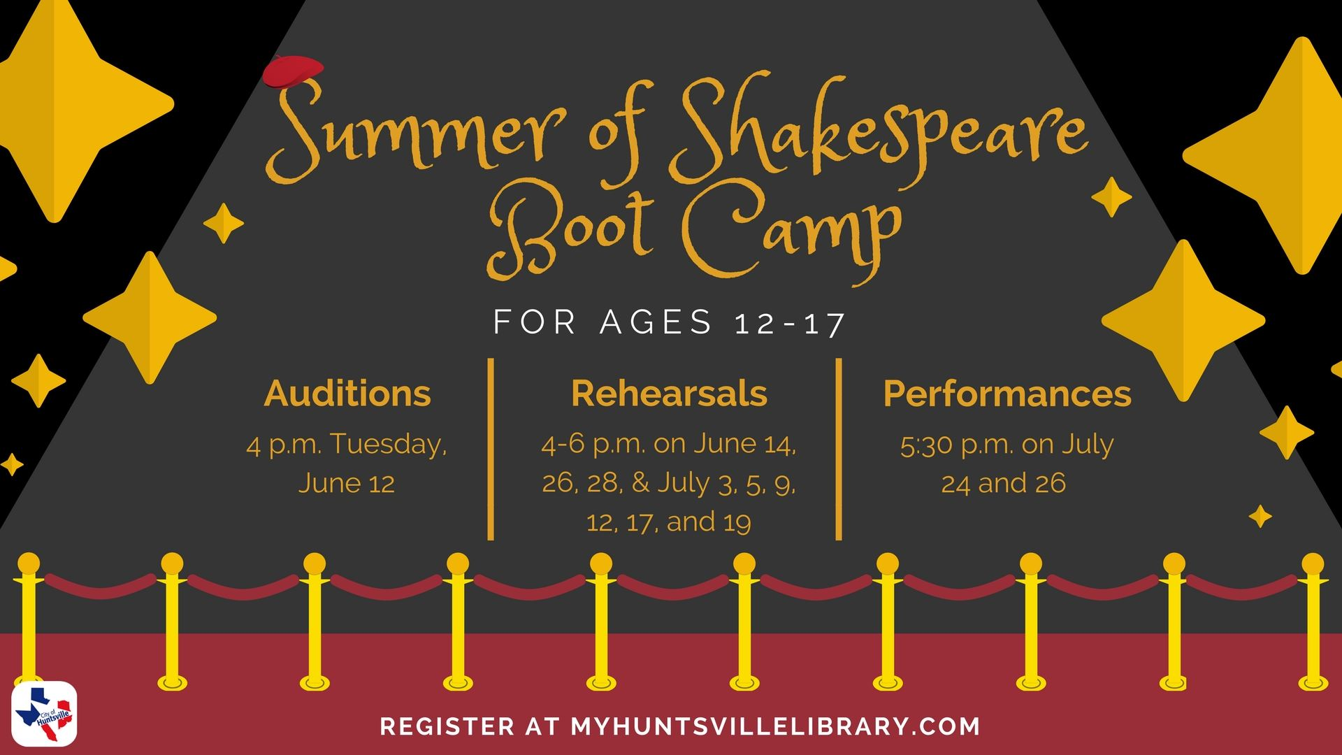 Summer of Shakespeare Bootcamp