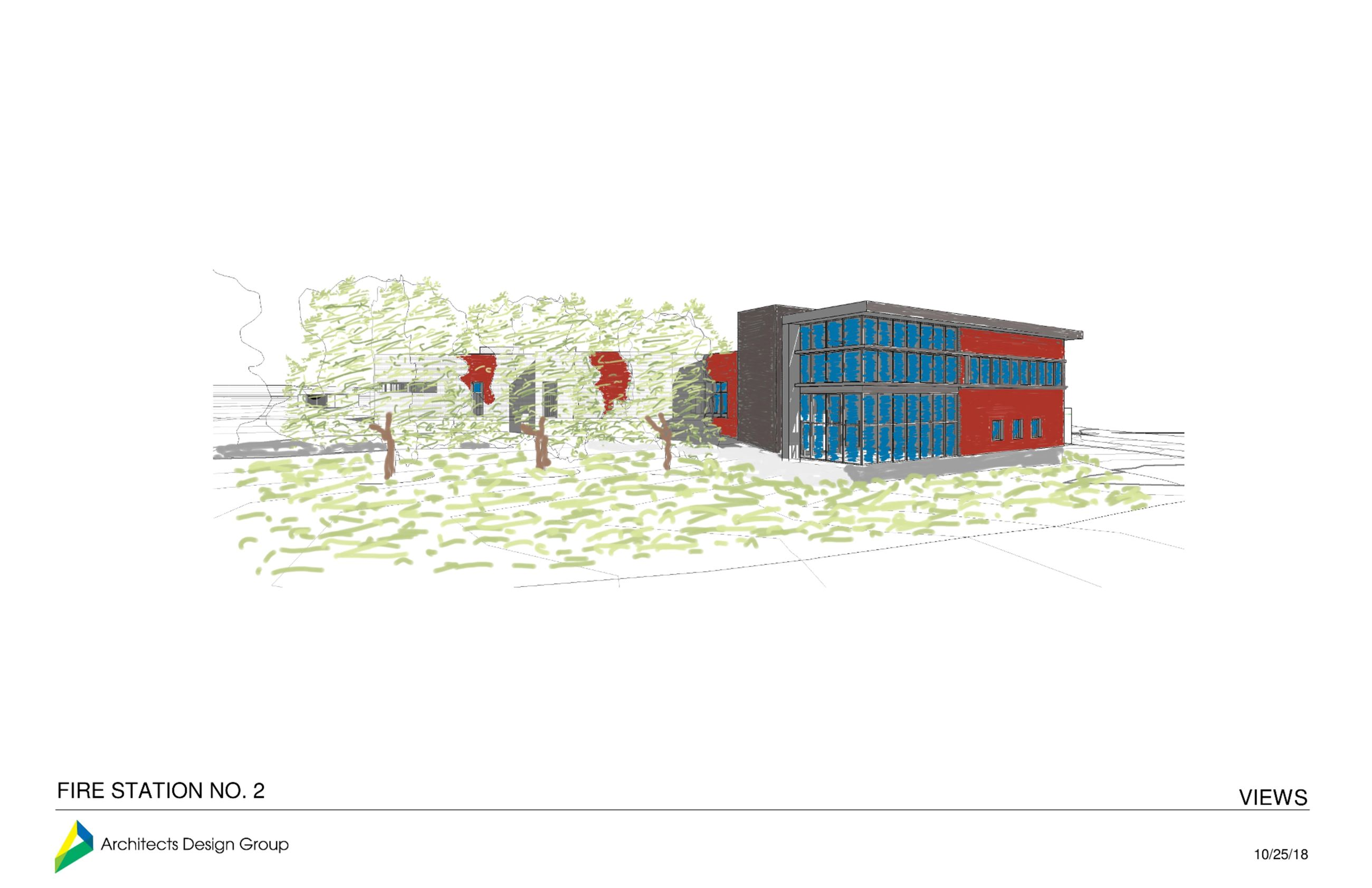 FIRE STATION - rendering