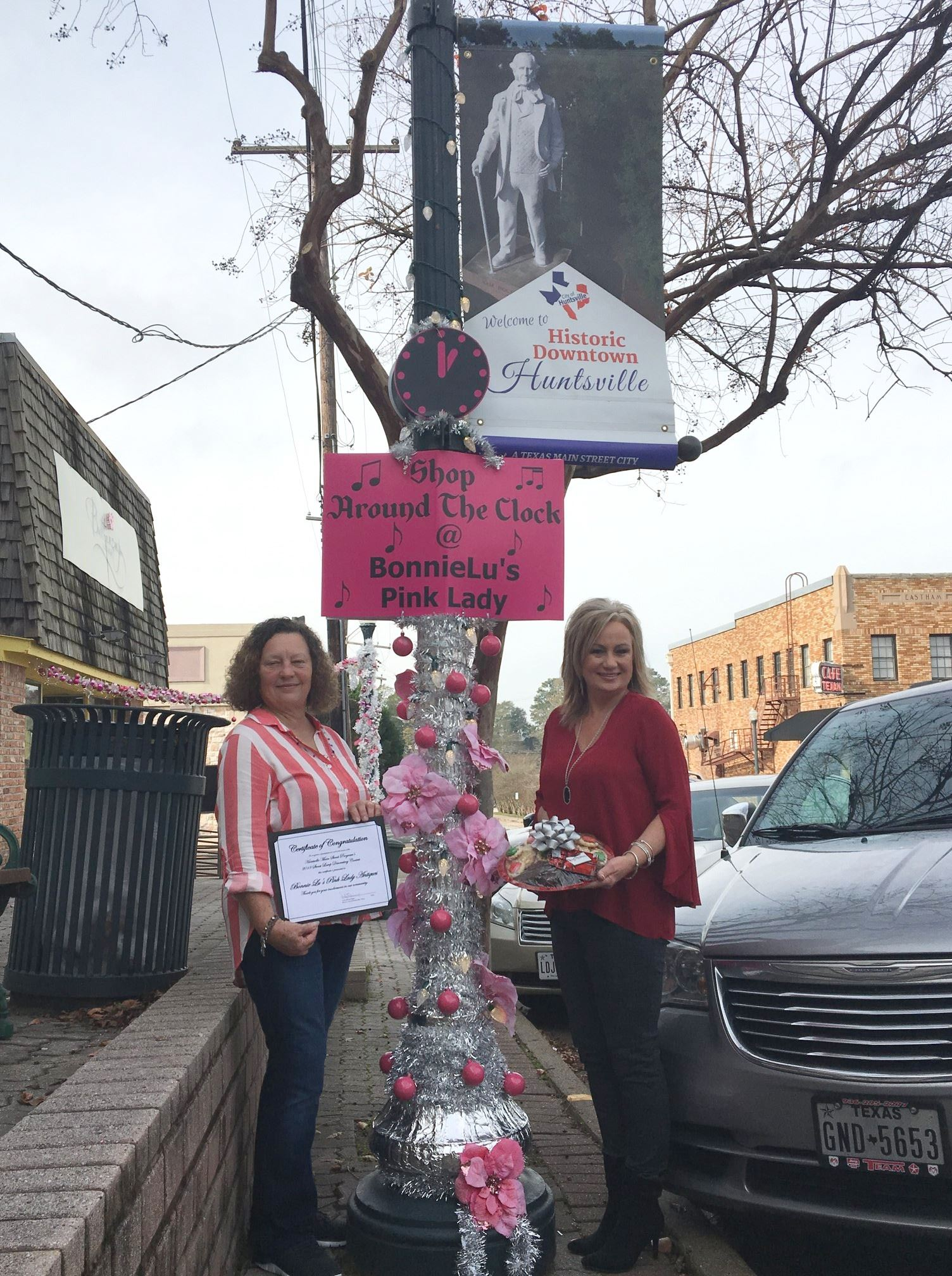 The Citys Main Street Office Celebrated Holiday Season With 2nd Annual Downtown Christmas Lamppost Decorating Contest Designed To Encourage Local