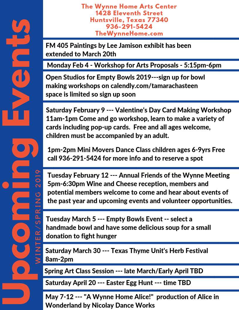 Wynne Home Upcoming Events 2019 (1)