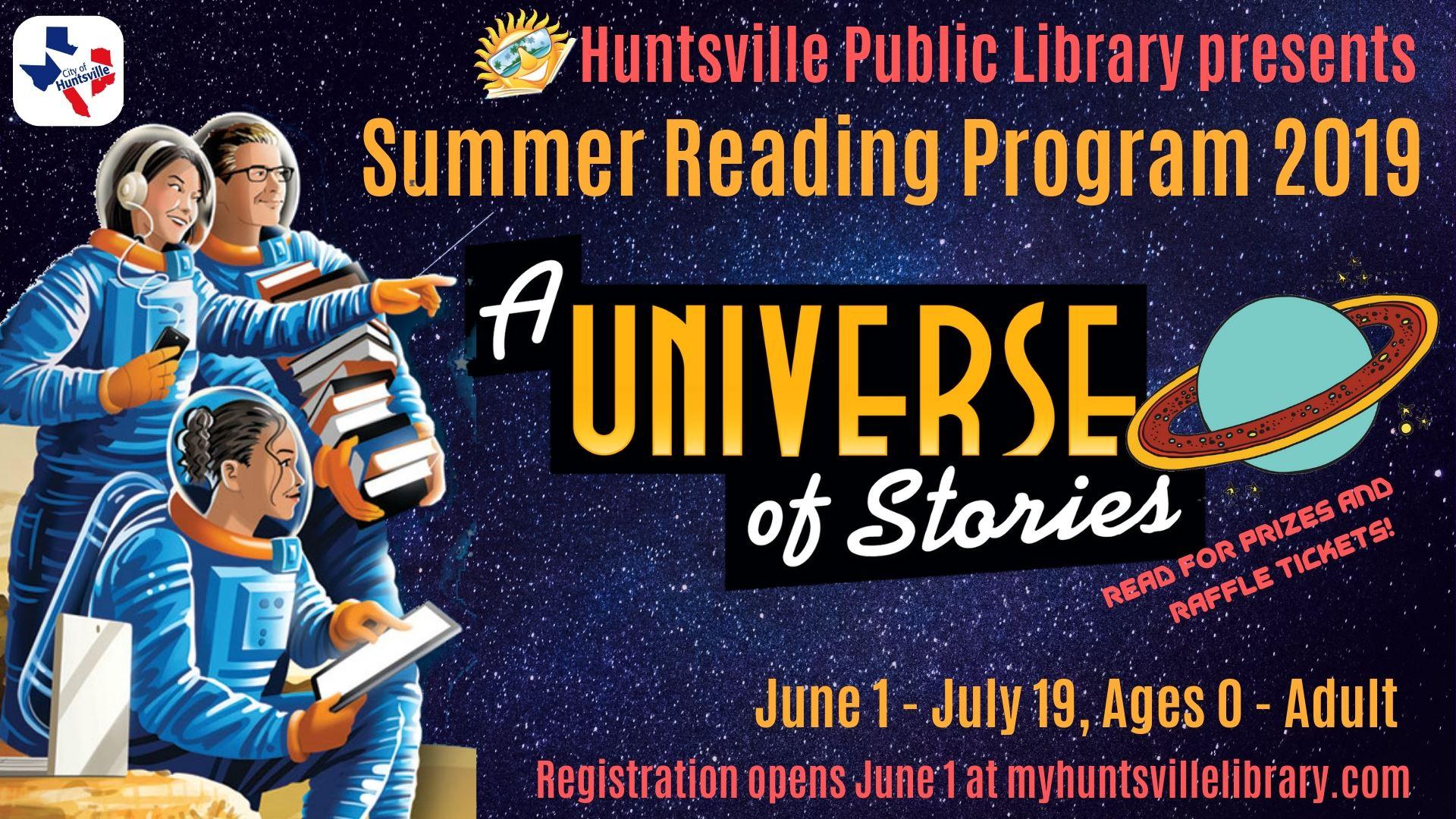 Texas Summer Reading Program   Huntsville, TX - Official Website