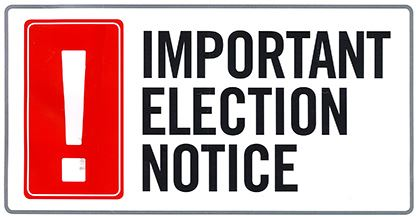 important elections notice