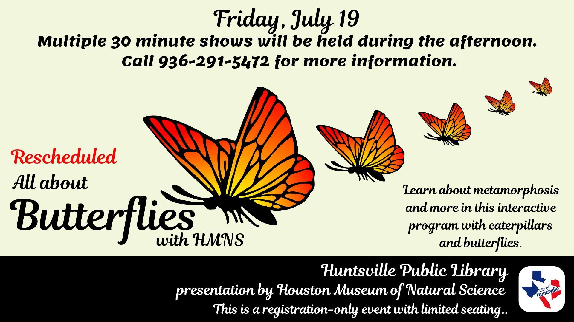 All about Butterflies-Rescheduled