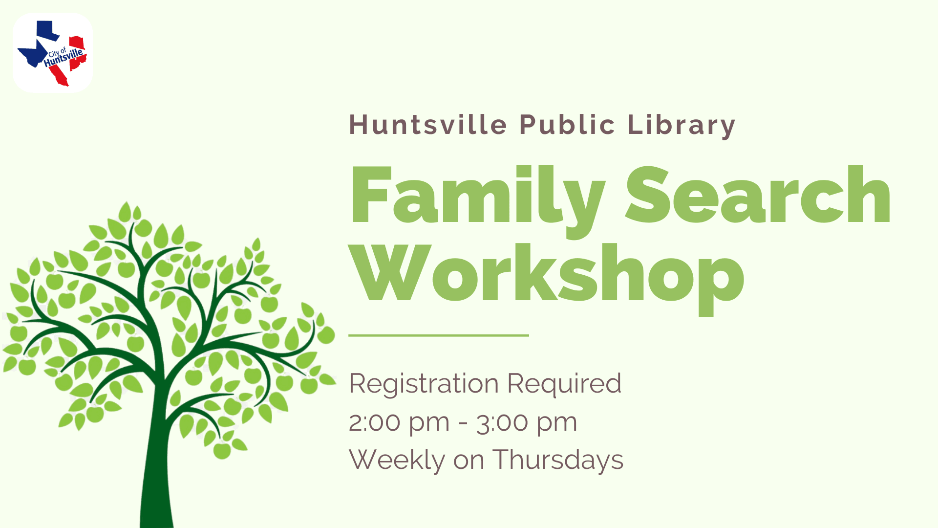 Family Search Workshop
