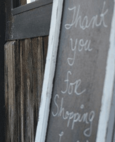 Thank you For Shopping Sign