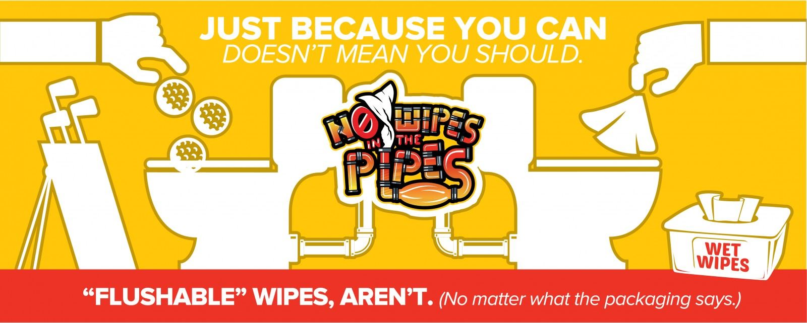 Wipes in Pipes are bad