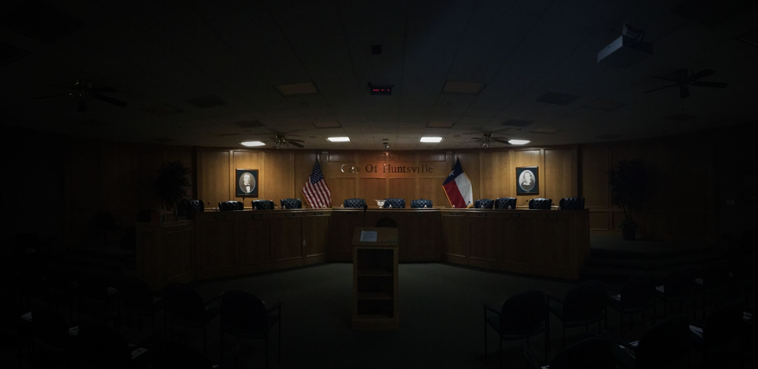 Huntsville City Council chambers