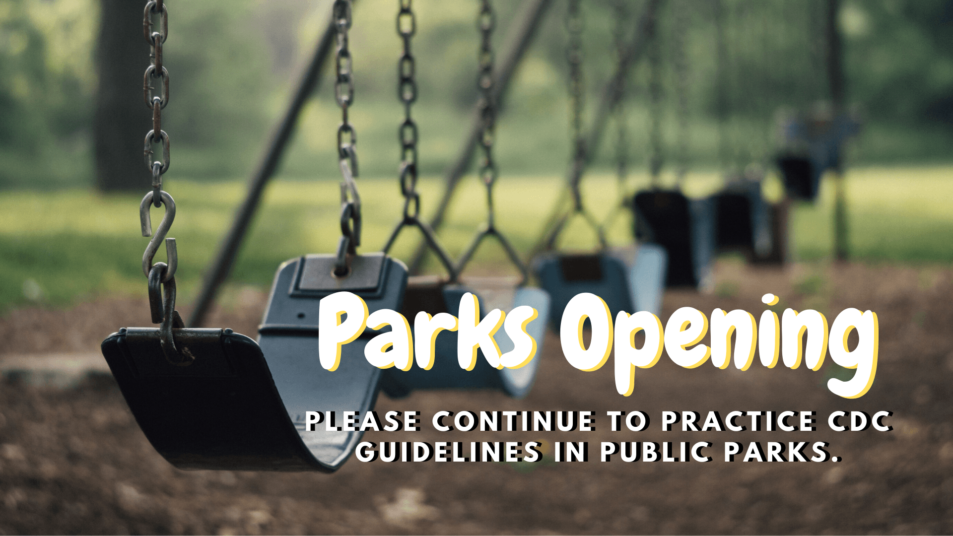Park open with social distancing