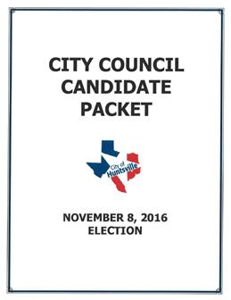 Candidate Packet 2016