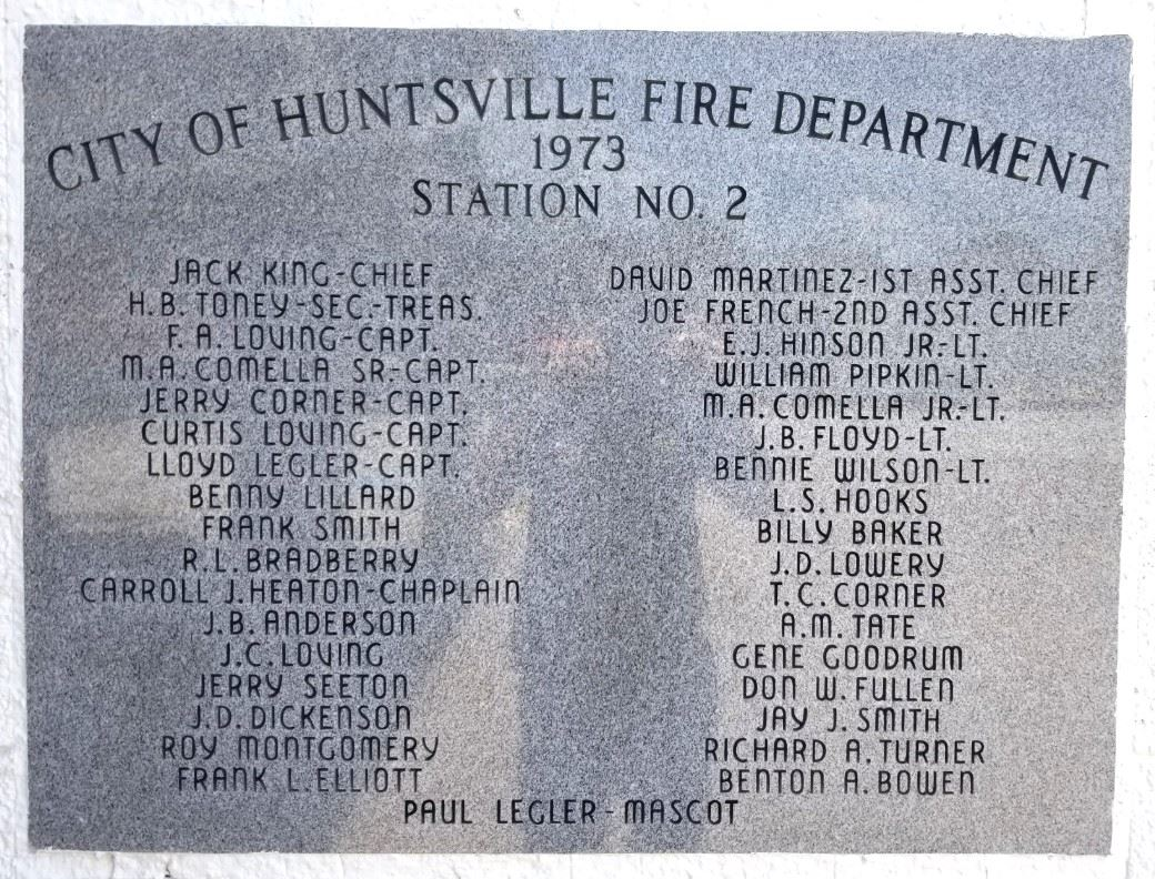 Plaque from Fire Station 2