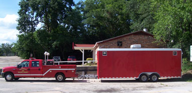 Haz Mat Truck and Trailer